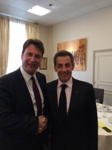 Elections départementales : Sylvain Berrios accueille Nicolas Sarkozy à Saint-Maur