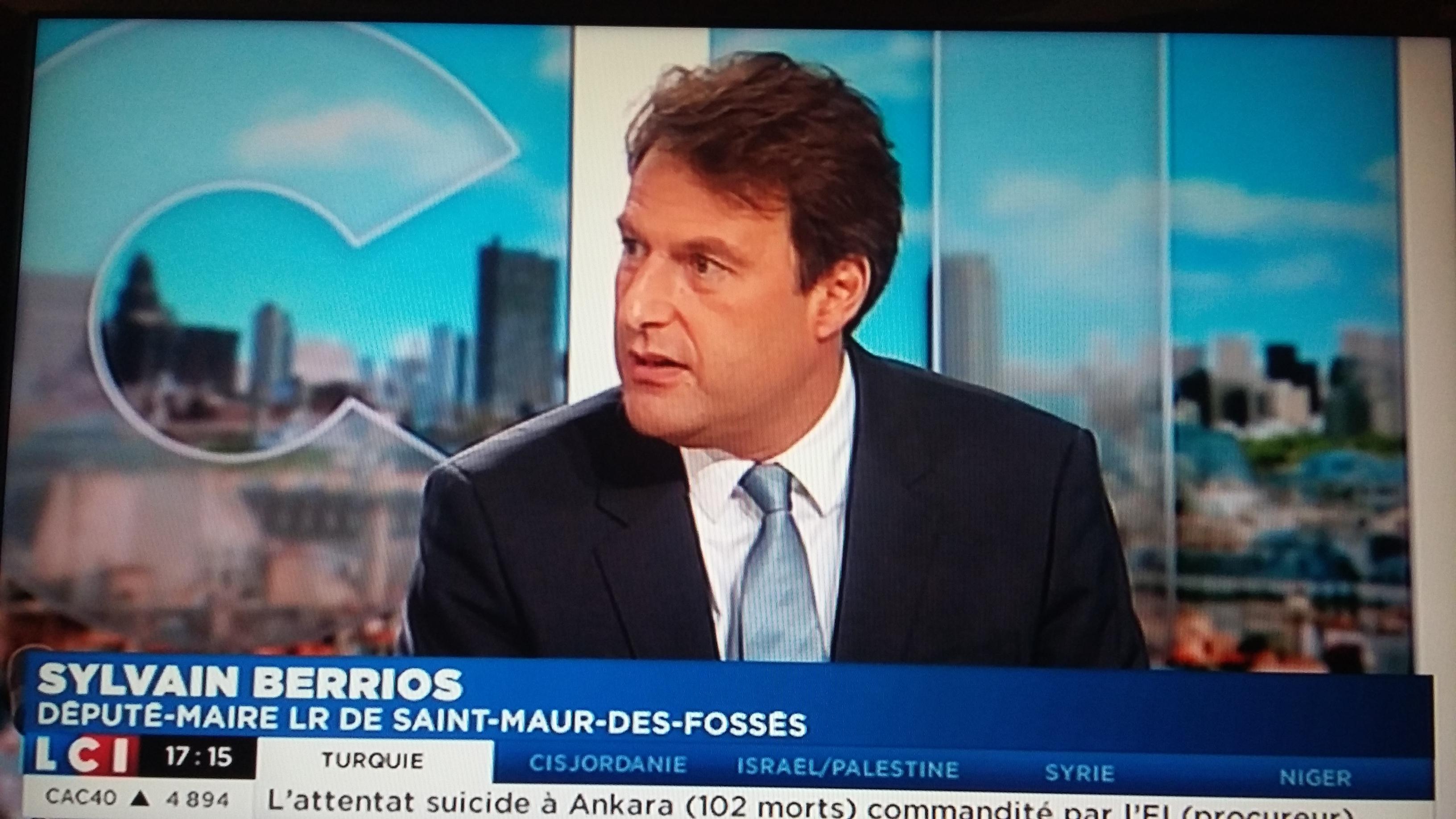 Sylvain Berrios sur LCI: «Détruire 1/3 du territoire saint-maurien, jamais je ne le ferai»