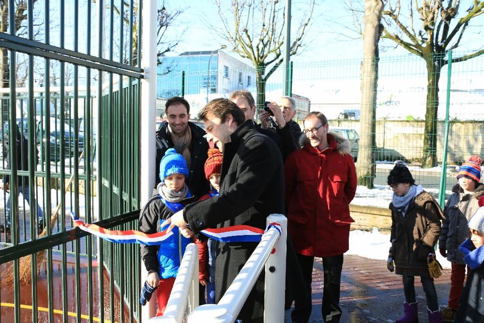 Inauguration du premier City stade à Saint-Maur