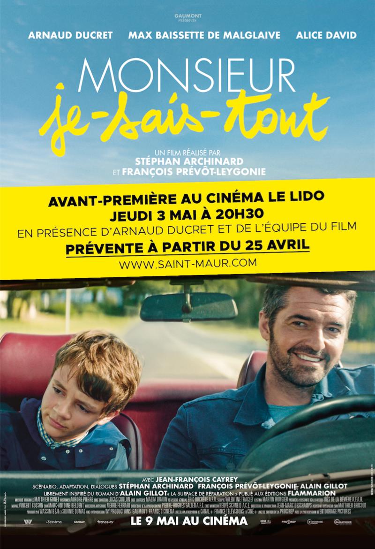 « Monsieur Je-Sais-Tout » en avant-première en présence d'Arnaud Ducret et de l'équipe du film