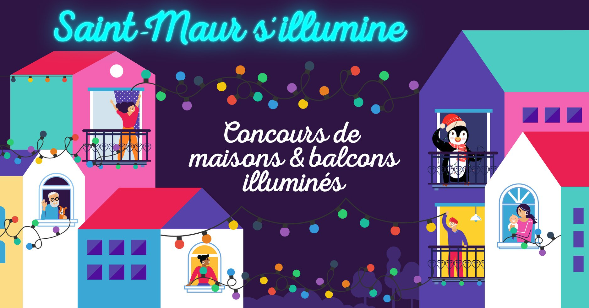 Faisons scintiller nos maisons et nos balcons pour faire briller Saint-Maur