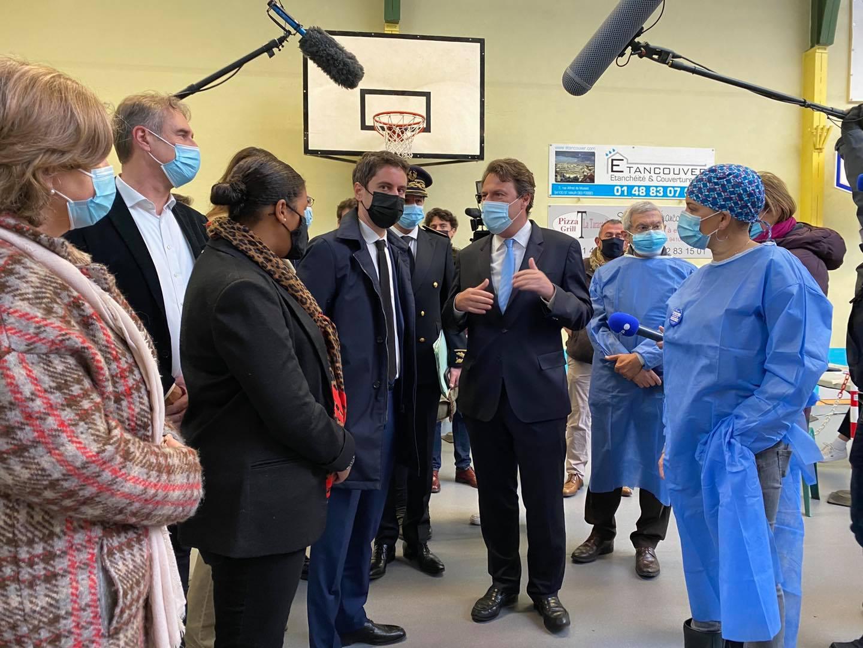 Visite du centre de vaccination par le Porte-parole du Gouvernement