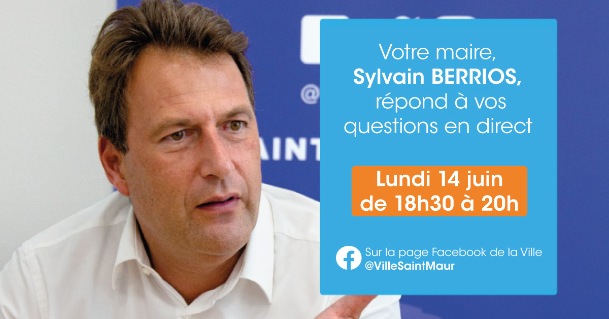 Facebook Live Lundi 14 Juin à 18h30