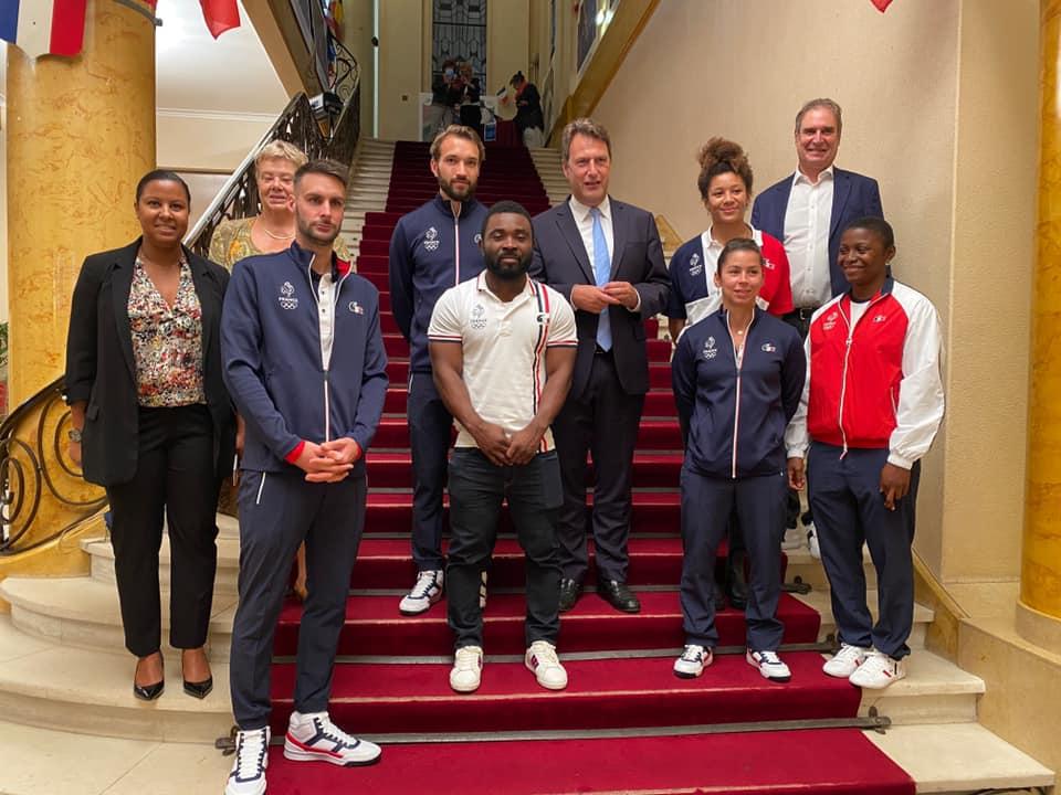 Cérémonie en l'hommage des Saint-Mauriens sélectionnés olympiques de Tokyo