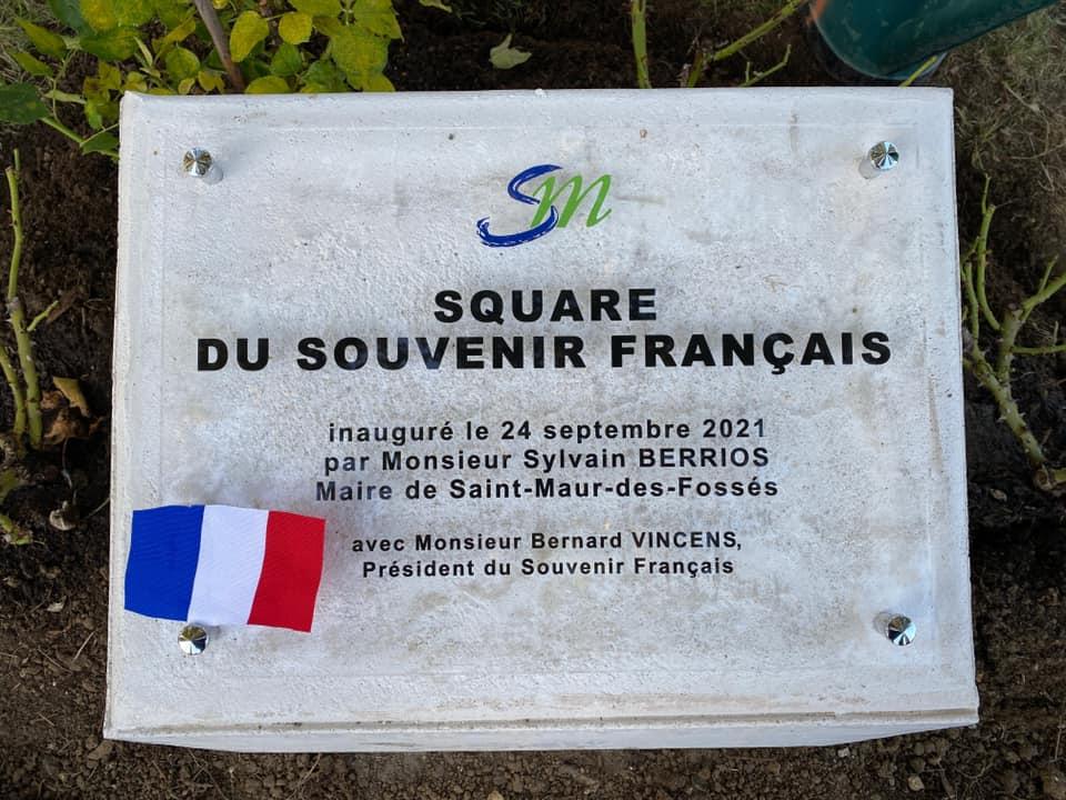 Inauguration du square du Souvenir Français